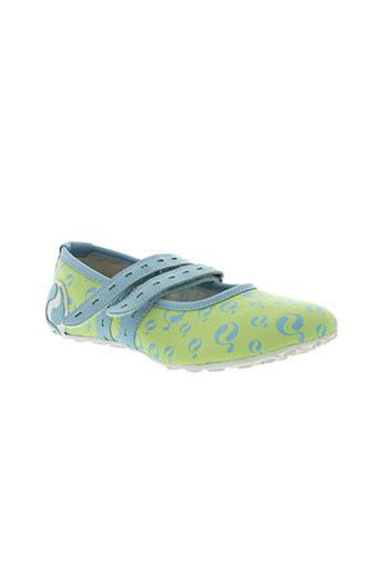 quick chaussures femme de couleur vert