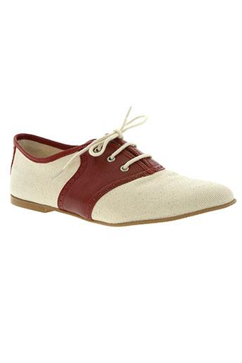 feiyue chaussures femme de couleur rouge
