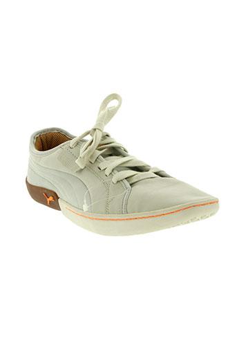 puma chaussures homme de couleur beige