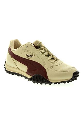 puma chaussures femme de couleur beige