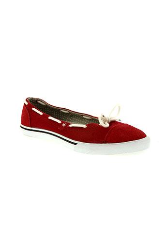 dvs chaussures femme de couleur rouge