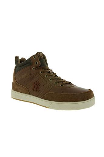 new york yankees chaussures homme de couleur marron