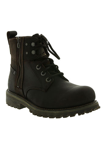 cat chaussures homme de couleur marron
