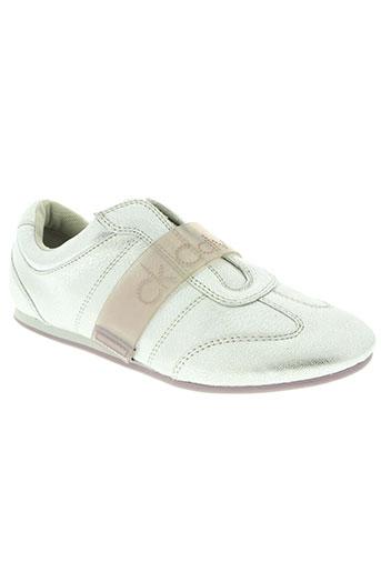 calvin klein chaussures femme de couleur gris