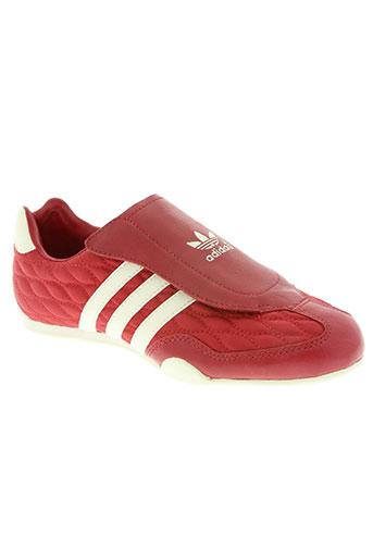 adidas chaussures femme de couleur rouge