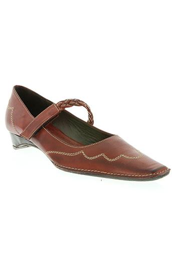 xsa chaussures femme de couleur marron