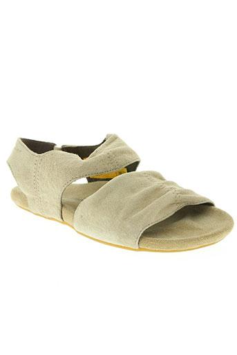 caterpillar chaussures femme de couleur beige