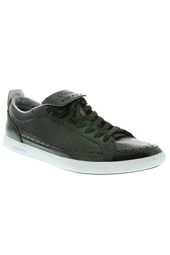lacoste chaussures homme de couleur noir