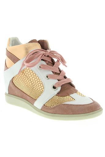 groundfive chaussures femme de couleur rose
