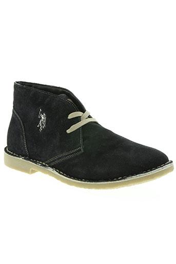 u.s. polo assn chaussures homme de couleur bleu