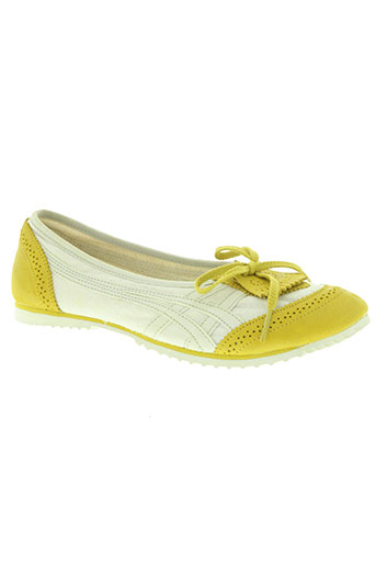 onitsuka tiger chaussures femme de couleur jaune