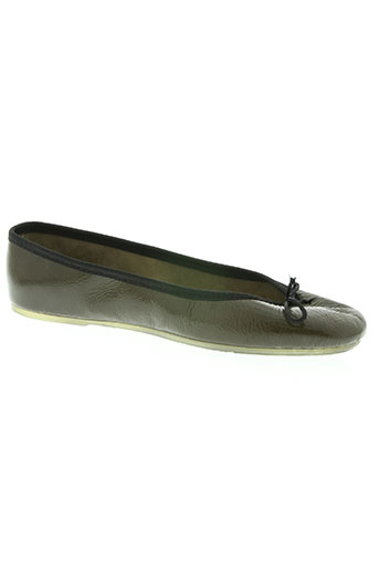the french touch chaussures femme de couleur vert