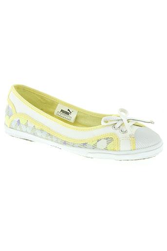 puma chaussures femme de couleur jaune