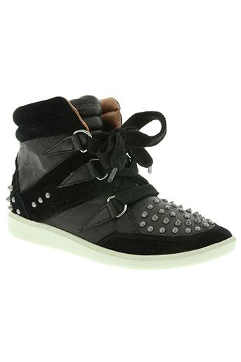 groundfive chaussures femme de couleur noir