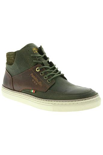 pantofola d'oro chaussures homme de couleur vert