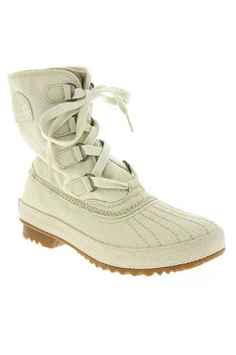 sorel chaussures femme de couleur beige