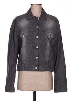 Veste en jean gris TEDDY SMITH pour femme