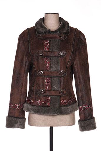 desigual manteaux femme de couleur marron