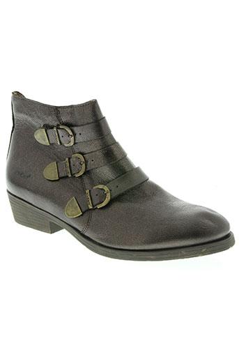 kickers chaussures femme de couleur marron
