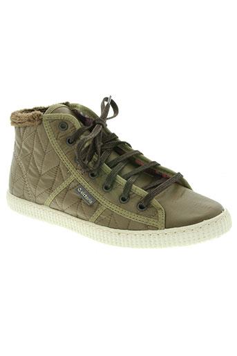 victoria chaussures femme de couleur vert