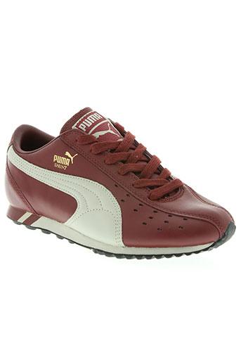 puma chaussures femme de couleur rouge