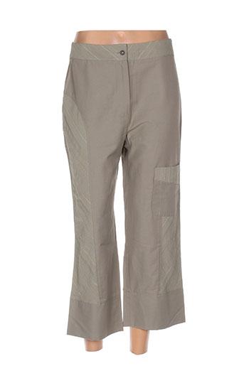 modissimo pantalons femme de couleur beige