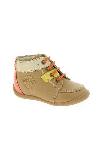 aster chaussures enfant de couleur beige