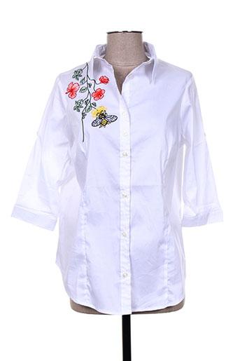 noos noos chemises femme de couleur blanc