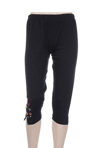 noos noos pantalons femme de couleur noir