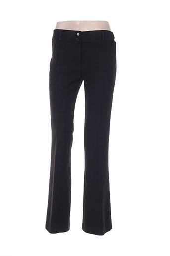faruk pantalons femme de couleur noir