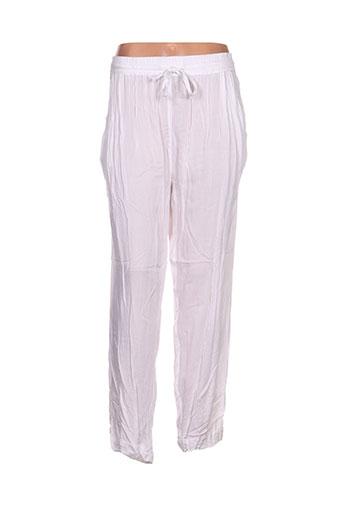 kalaïs pantalons femme de couleur blanc