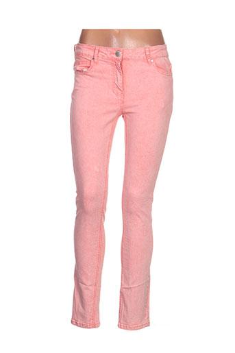 cbk pantalons femme de couleur orange