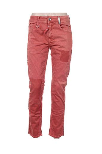 high jeans femme de couleur rouge