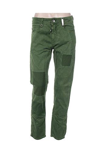 high jeans femme de couleur vert