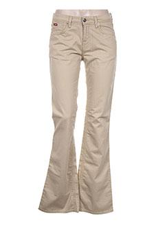 Pantalon casual beige LEE COOPER pour femme