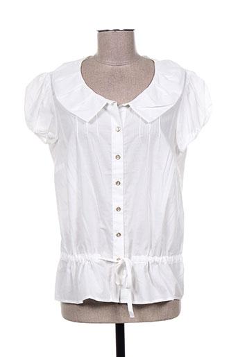 fleur de sel chemises femme de couleur blanc