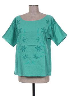 Blouse manches courtes vert ANTIK BATIK pour femme