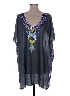 T-shirt manches courtes violet ANTIK BATIK pour femme