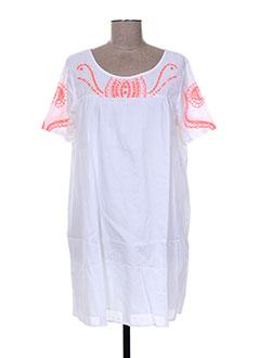Robe courte blanc ANTIK BATIK pour femme