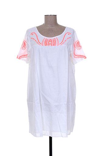 antik batik robes femme de couleur blanc