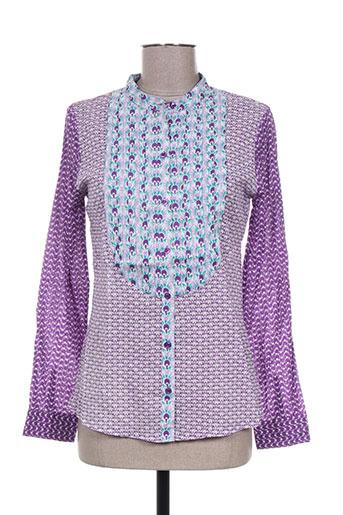 antik batik chemises femme de couleur violet