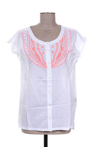 antik batik chemises femme de couleur blanc