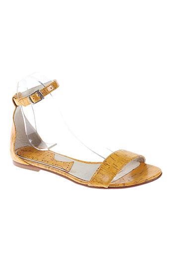 ippon styl chaussures femme de couleur jaune