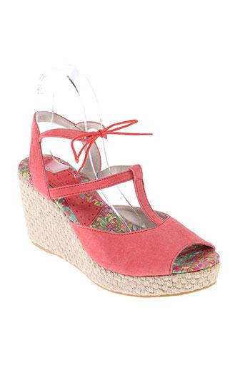 ippon styl chaussures femme de couleur rouge