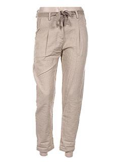 Pantalon casual beige ANGELA DAVIS pour femme
