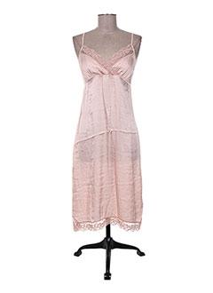 Robe mi-longue rose ANGELA DAVIS pour femme