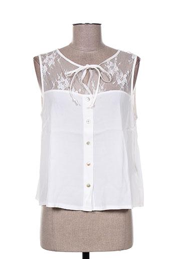 maryley chemises femme de couleur blanc