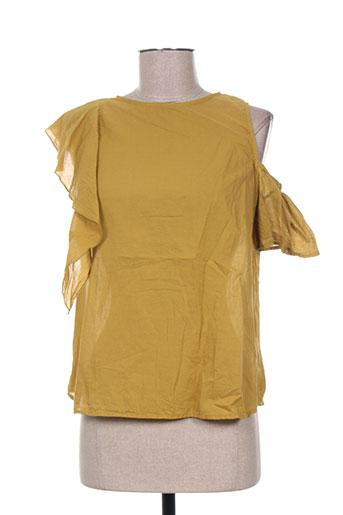 T-shirt manches courtes vert ANGELA DAVIS pour femme
