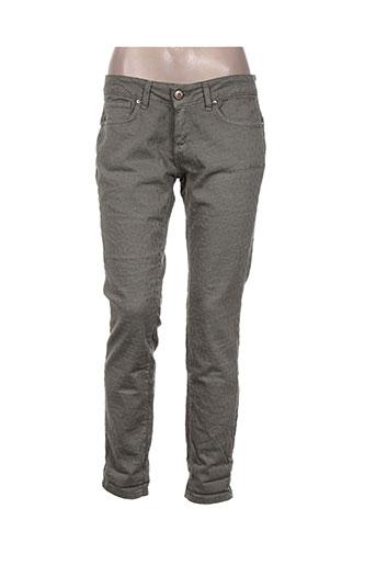 Pantalon casual vert ALMANEGRA pour femme