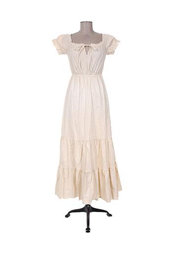 Robe longue beige ANGELA DAVIS pour femme